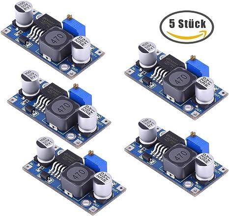 daorier LM2596/LM2596S DC-DC Converter 3,0/ 1/pezzi /35/V regolabile alimentazione Step Down modulo per Arduino /40/V a 1,5/
