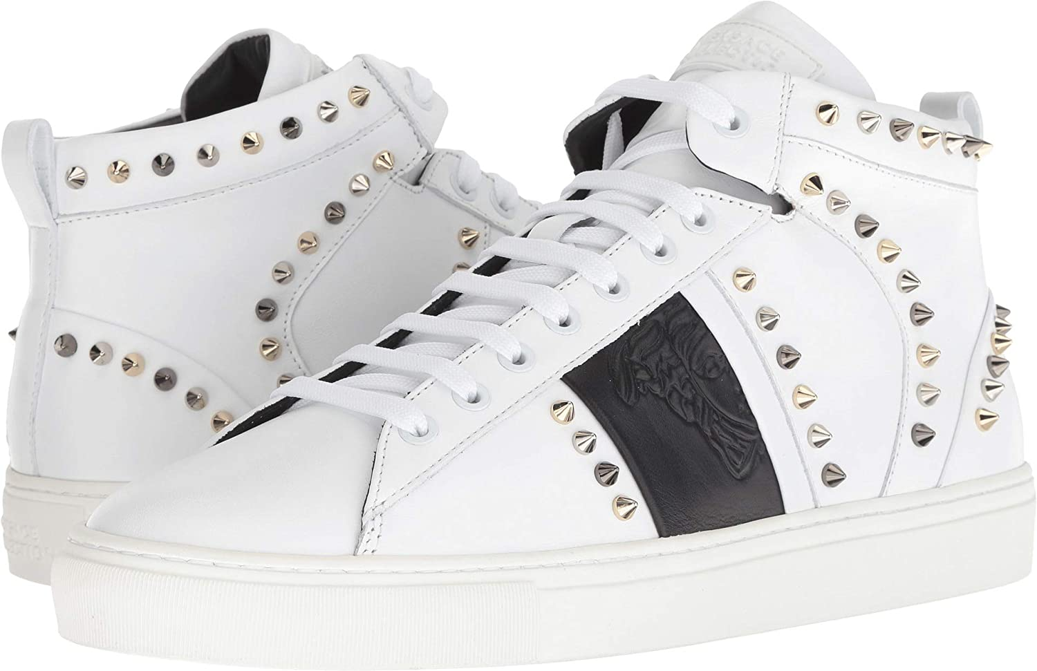 2b6daf80669 Amazon.com: Versace Collection Mens Spiked High Top Sneaker: Shoes