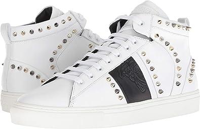 Amazon.com: Versace Collection Men's Spiked High Top Sneaker ...