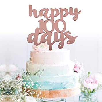 7efa1e20f Amazon.com  GrantParty Happy 100 Days Cake Topper for Kids Birthday ...