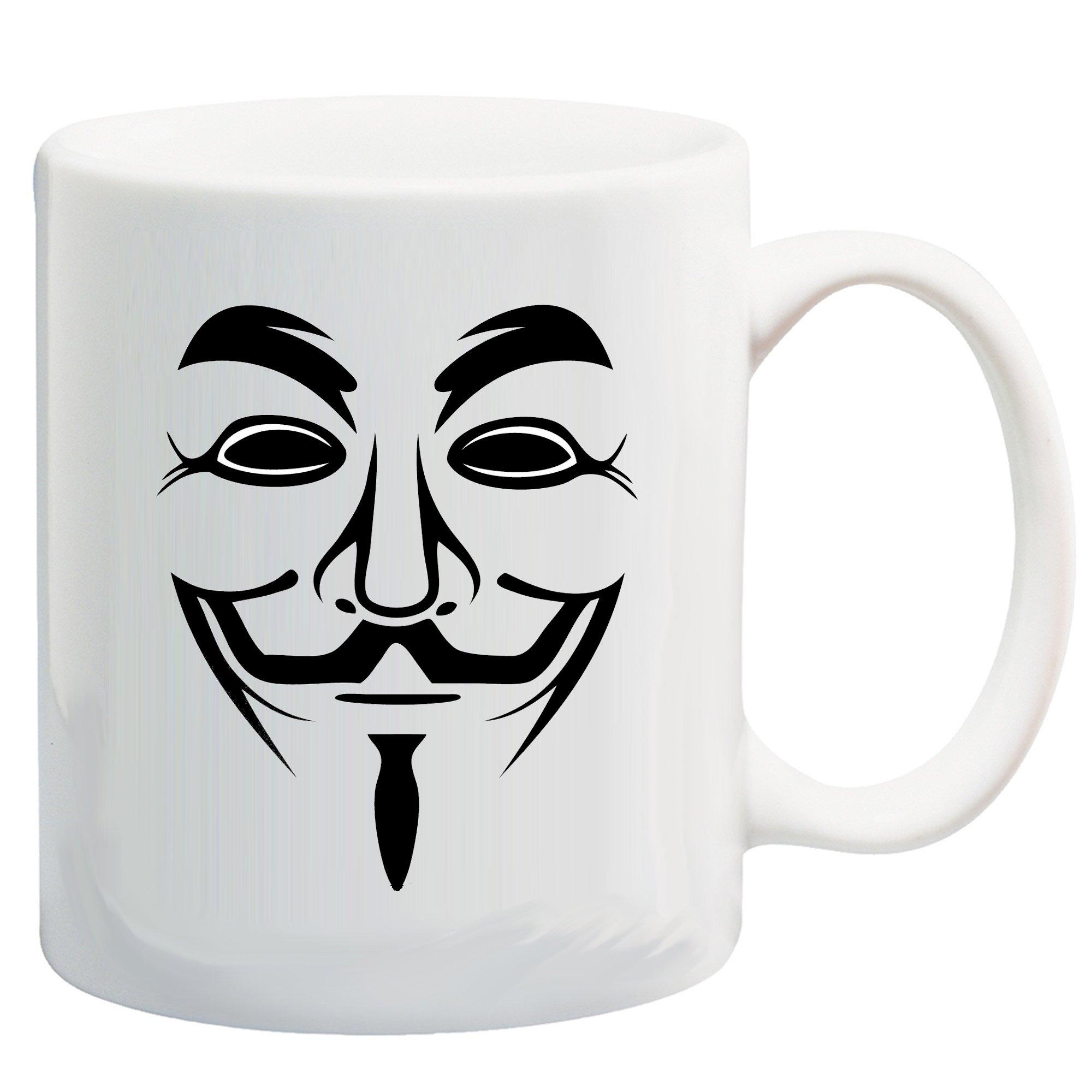 Guy Fawkes (Anonymous) Mask 11 Oz Coffee/Cocoa Mug