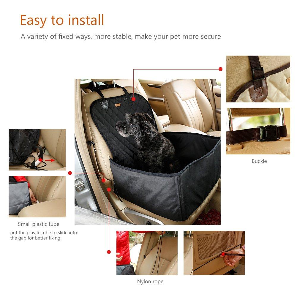 Faltbar Wasserdicht Bequem Sitz f/ür Katzen oder Hunde mit Sicherheitsschnalle UUNITONA Haustier-Autositz