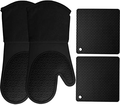 Silicone Potholders Oven Kitchen Rubber gloves taken for Cooking Hot pots
