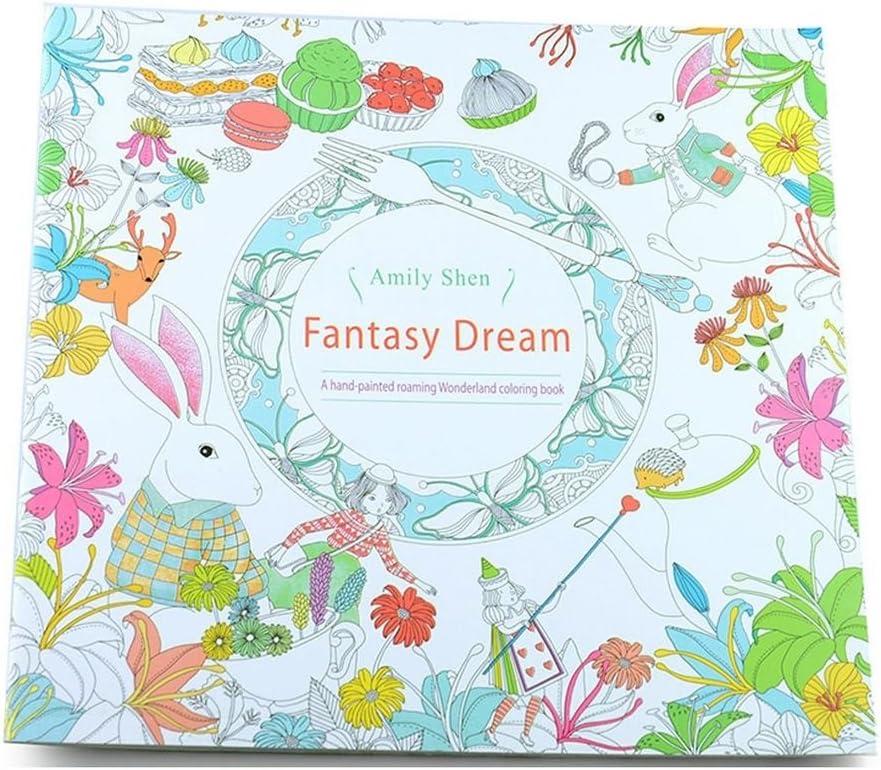 Children Adult Puzzle English Secret Garden Decompression Coloring Painting Book