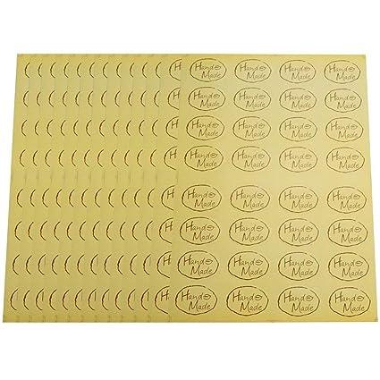 amazon com 480pcs hand made yellow oval shape decorative labels