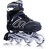 Zuwaos Boys Kids Adjustable Inline Skates, Girls Inline Skates for Kids, Beginner Roller Skates for Girls Men and Ladies Outd