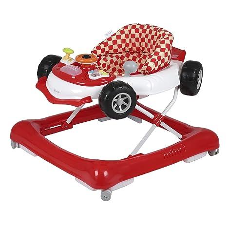 BabyGo Walker Car - Andador con ruedas, color rojo: Amazon.es: Bebé