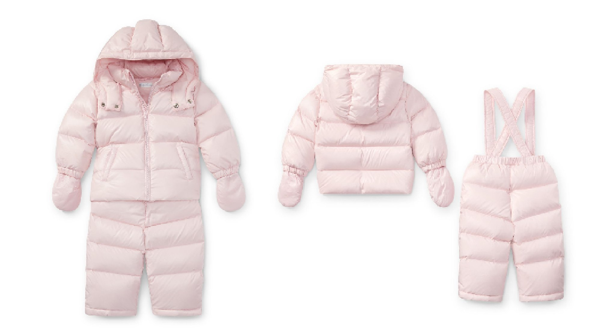 RALPH LAUREN Baby Girl Hooded Down 2pcs Snowsuit (Jacket and Pants) (18 Months) by RALPH LAUREN