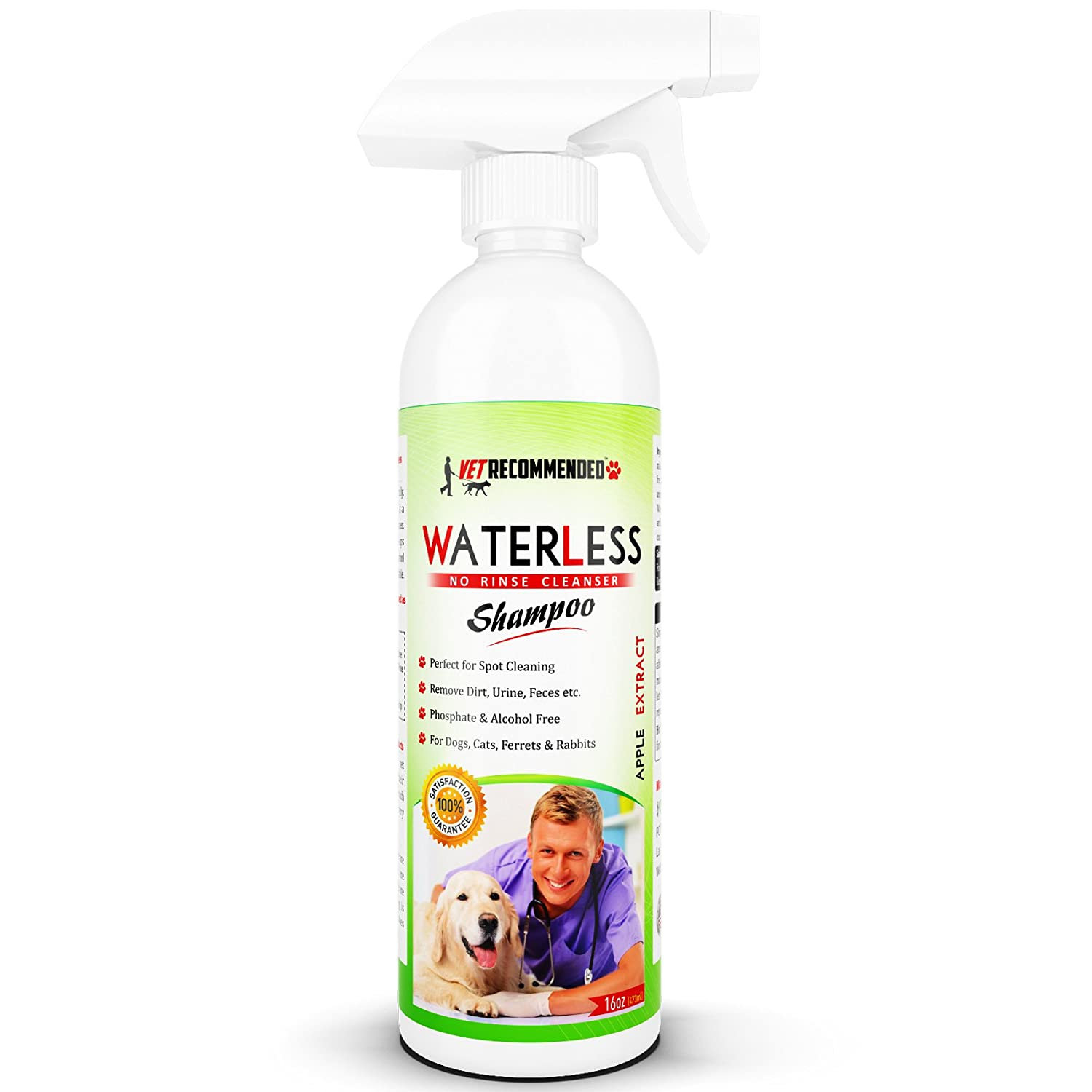 4. Vet Recommended - Waterless Dog Shampoo