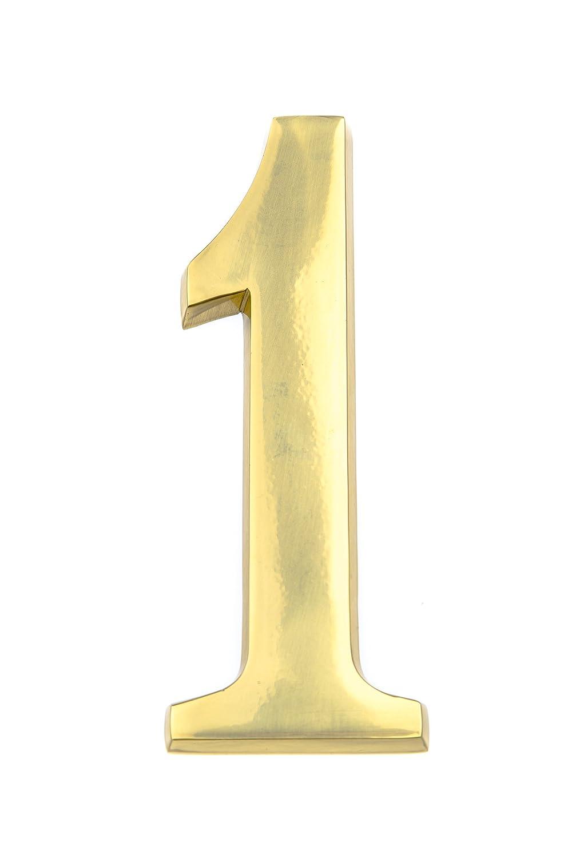 N/úmero de casa de lat/ón brillante dise/ño tridimensional elegante 20/cm Huber