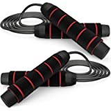 CHICMODA Jump Rope,Jump Ropes for Fitness,Weighted Jump Rope Workout 2 Pack Tangle-Free Speed Jump Rope with Ball Bearing Dur