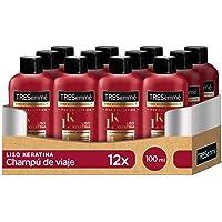 TRESemmé Champú Liso Keratina - Paquete de 12 x 100 ml - Total: 1200 ml