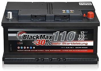 Autobatterie 12 V 110 Ah 950a En Blackmax Kfz Pkw Batterie Amazon