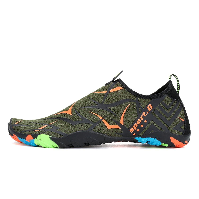 Kuuland Water Aqua Shoes Quick Dry Barefoot Aqua Water Socks Beach Swim Pool Surf Shoes for Swimming Diving Walking Yoga Men Women B07CWJZJ6R 5 B(M) US|Green02 77a50d