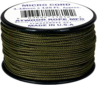 product image for Olive Drab 1.18mm x 125' Micro Cord Paracord by Jig Pro Shop - Made in the USA