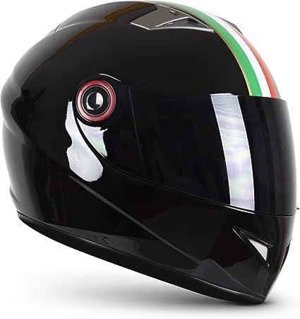 Soxon St 666 Imola Black Integral Helm Full Face Motorrad Helm Roller Helm Scooter Helm Cruiser Sturz Helm Streetfighter Helm Ece 22 05 Visier Schnellverschluss Tasche S 55 56cm Auto