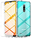 Ulefone Note 8 Case, with Tempered Glass Screen Protector Crystal Soft Clear Shockproof TPU Bumper Transparent Silicone…