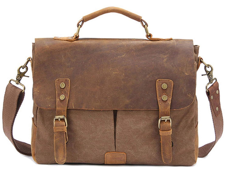 Vintage Military Leather Mens Briefcase Bag Briefcase Men shoulder bag Crossbody Bag