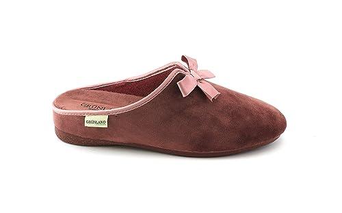 GRUNLAND Adri CI1382 Rosa Antico Ciabatte Pantofole Donna Fiocco Velluto   Amazon.it  Scarpe e borse 4bdeadcfa04