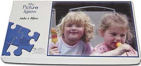 vintage pink 500 piece personalised photo jigsaw amazon co uk