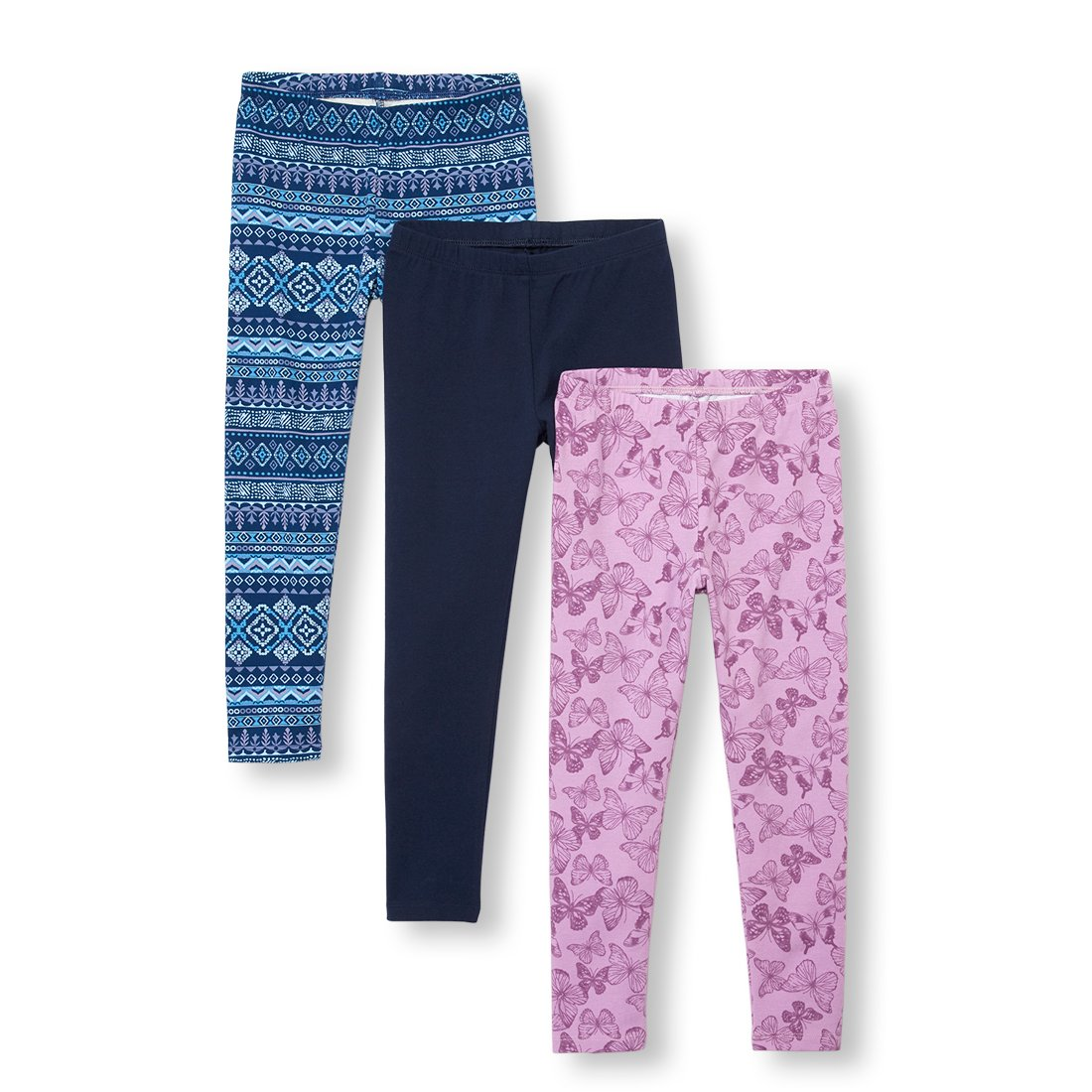 The Children's Place Big Girls' 3 Pack Legging, Milky Way, L (10/12)