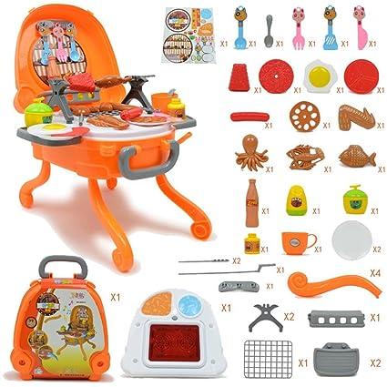 Pawaca Juego de parrilla de cocina para niños (39 piezas ...
