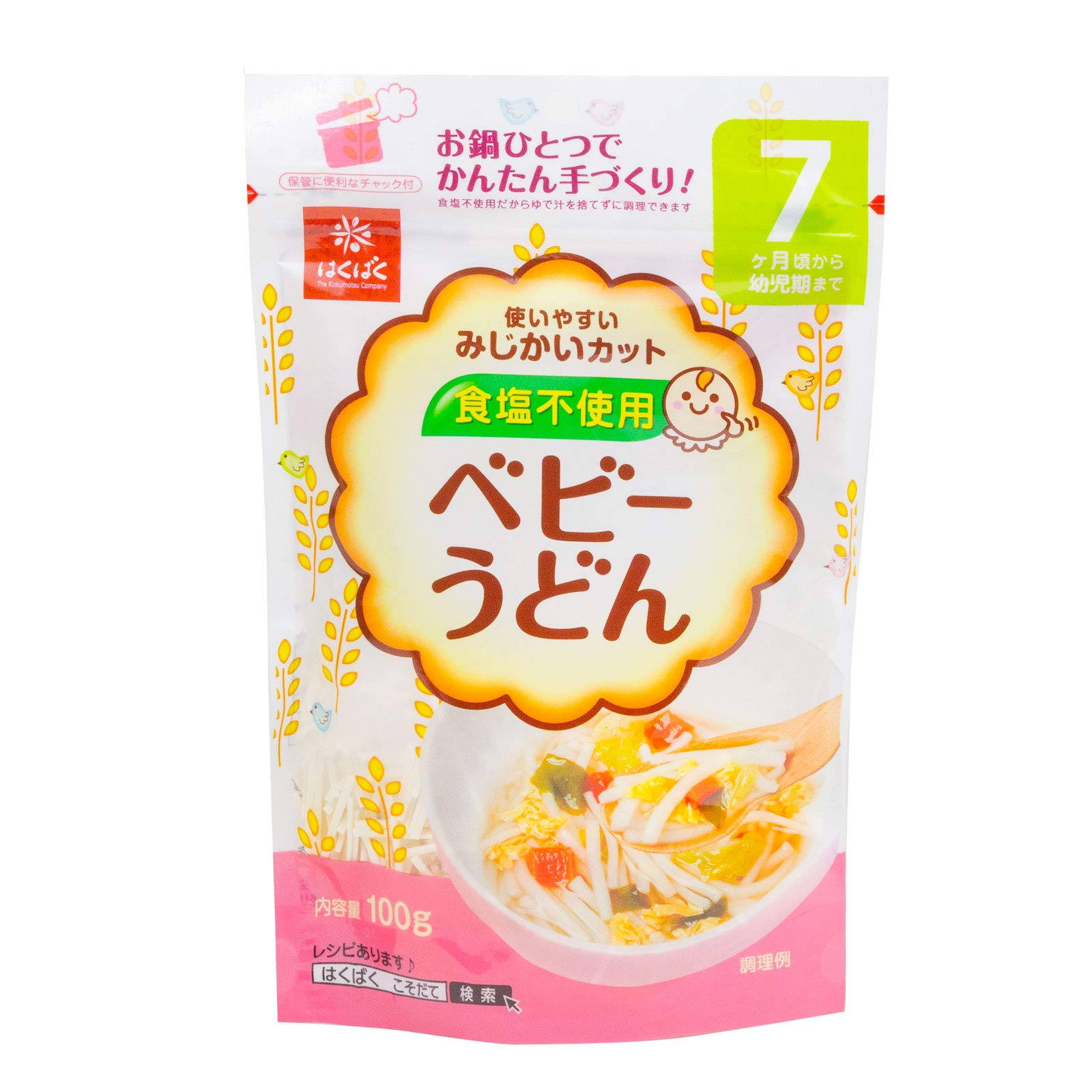 Hakubaku Baby Safe Udon Noodles 100g x 4pack by HAKUBAKU THE KOKUMOTSU COMPANY