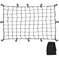 Cargo Net Set, Bungee Truck Bed Net Stretchable to, 12PCs Universal Hooks, Truck Bed Accessories for Pickup Truck…