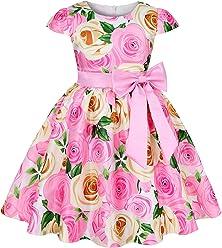 Mu yangren Girl Dress Wedding Bridesmaid Party Flower Princess Kids Dresses