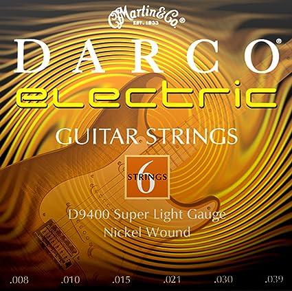 Martin D9400 - Juego de cuerdas para guitarra eléctrica de níquel.008-0.039: Amazon.es: Instrumentos musicales