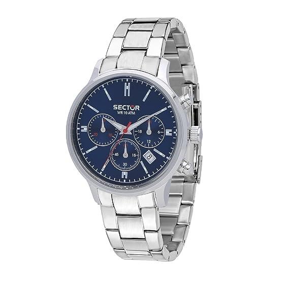 nuovo stile 67183 9ec6e Sector Orologio Cronografo Quarzo Uomo con Cinturino in Acciaio Inox  R3273693004