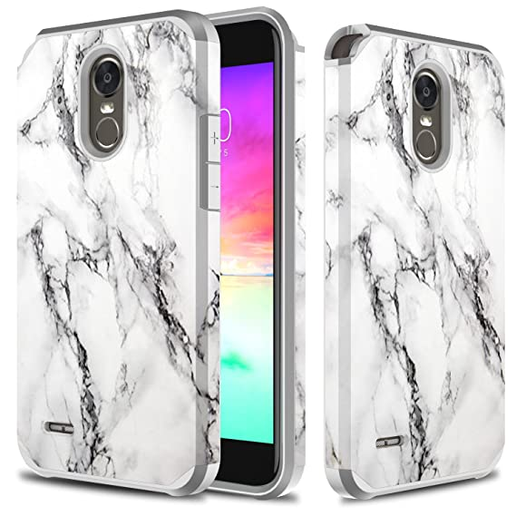 low priced 6c765 89743 LG Stylo 3 Case, TownShop Marble Pattern Design Hard Impact Dual Layer  Shockproof Bumper Case for LG Stylus 3/ LG Stylo 3