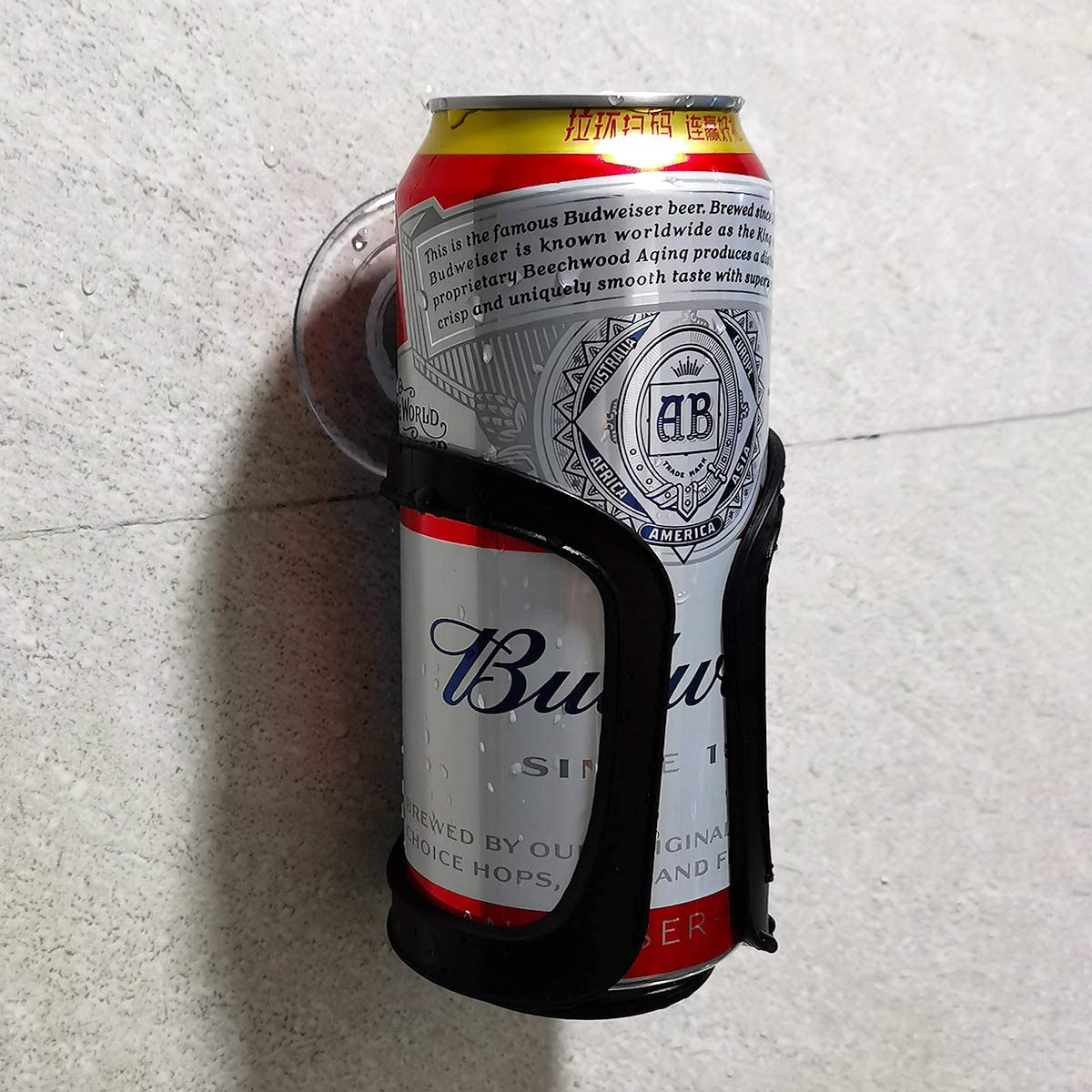 Seatery Beer Can Bottle Holder, Shower Drink Holder, Bathroom Cup Holder for All Canned Bottle Beer Wine Drink, Wall Suction Up Holder, Shower Accessories, Well Package for Gift.