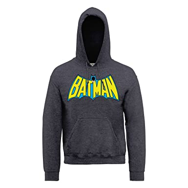 DC Comics - Sudadera de Manga Larga con Capucha para Hombre, Color Dark Heather, Talla XL: Amazon.es: Ropa y accesorios