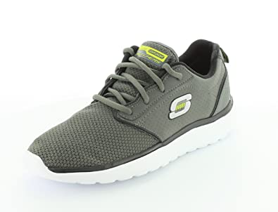 Skechers USA Men's Counterpart Oxford,Charcoal/Lime,8 ...