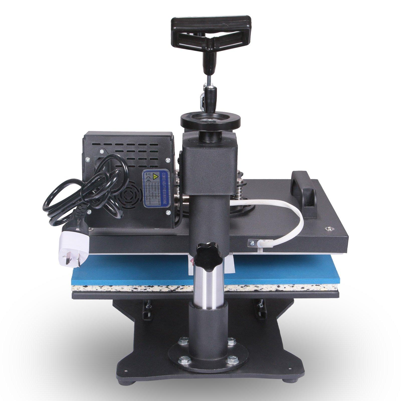 Mophorn Heat Presses 5 in 1 12x15 inch Heat Press Machine ...