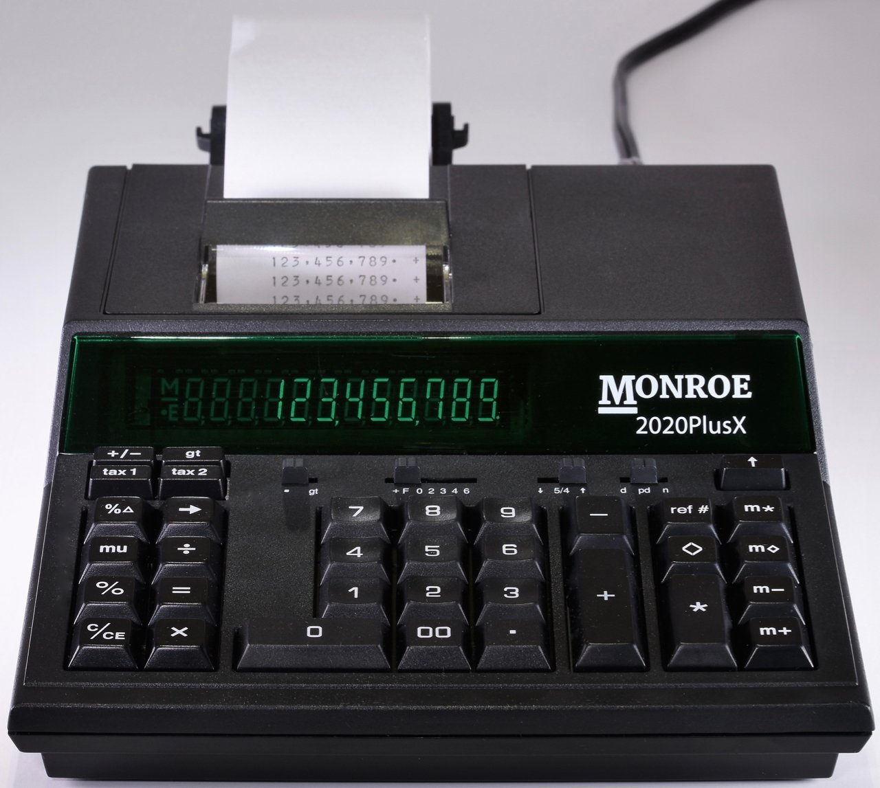 Monroe 2020PlusX 12-Digit Medium-Duty Color Printing Calculator With Ribbons and Paper (Calculator with Ribbons and Paper, Black)