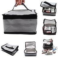 siyangmy Batterie LiPo Fireproof Safety Bag 20x11x15cm Safe Guard pour DJI Mavic Pro Mavic Air Spark Phantom 3, Phantom 4, Q500, Typhoon H, Batterie d'hélicoptère RC Car
