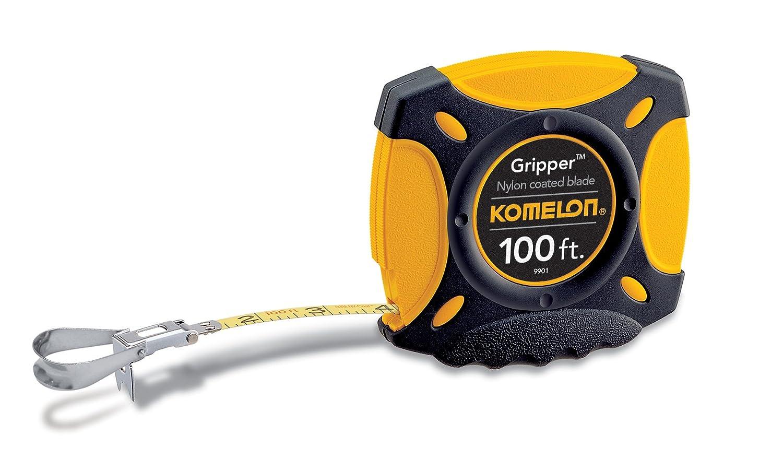 Komelon 9901 Gripper Closed Case Long Steel Tape Measure, 100-Feet
