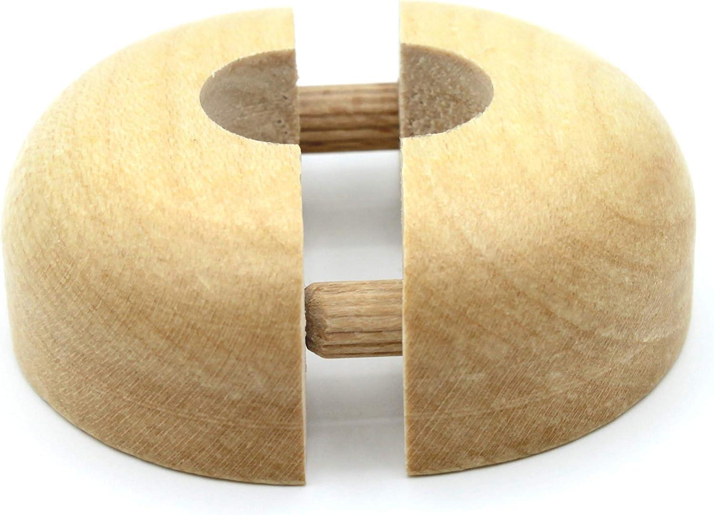 Lot de 10 rosaces simples pour tuyaux de chauffage en bois d/érable 19 mm h/être ch/êne et couvercle pour tuyaux de chauffage de 15 mm bois 22 mm