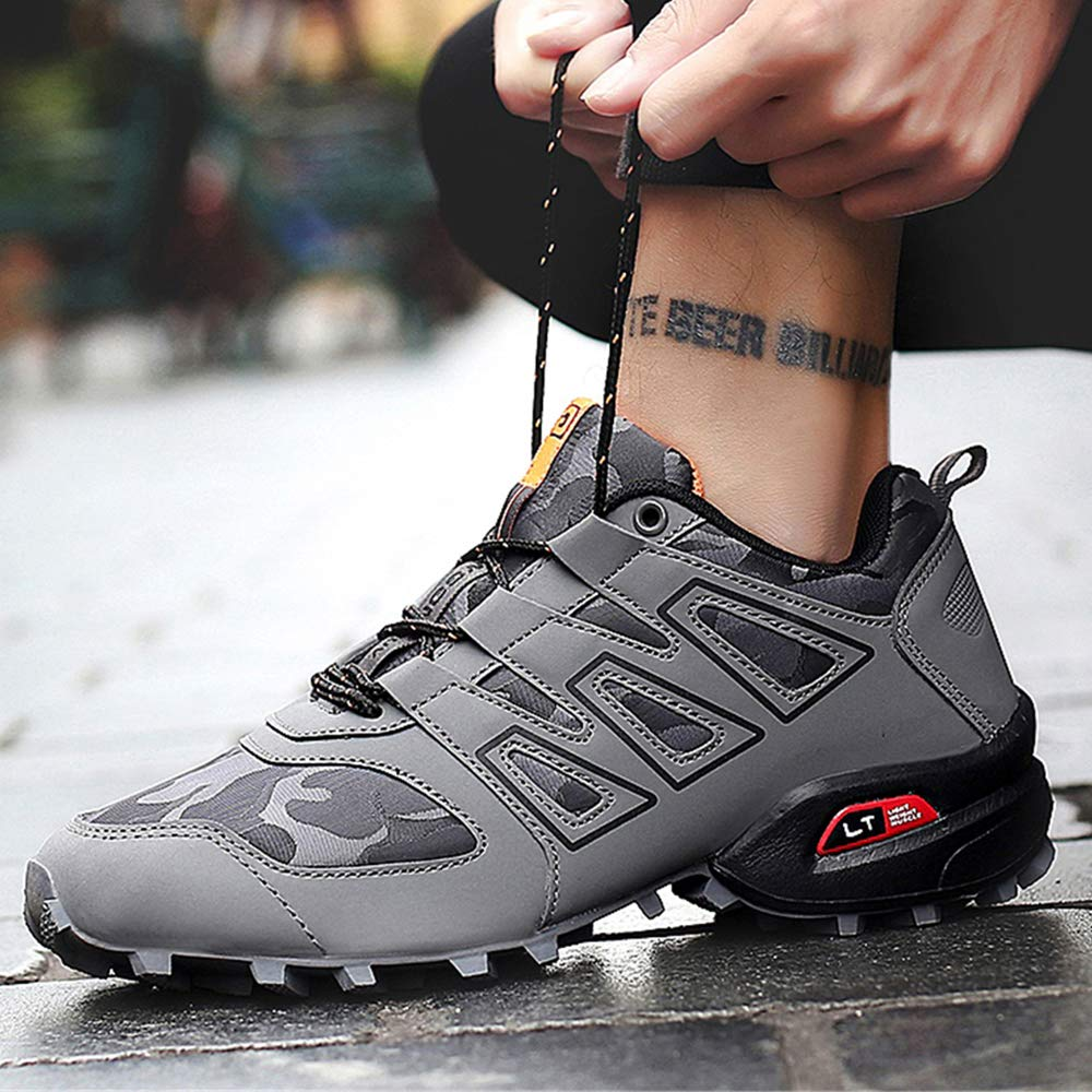 CAGAYA Herren Wanderhalbschuhe Rutschfeste Cross Country Laufschuhe Outdoor Schuhe Trekking Wanderschuhe Sneaker 39-46