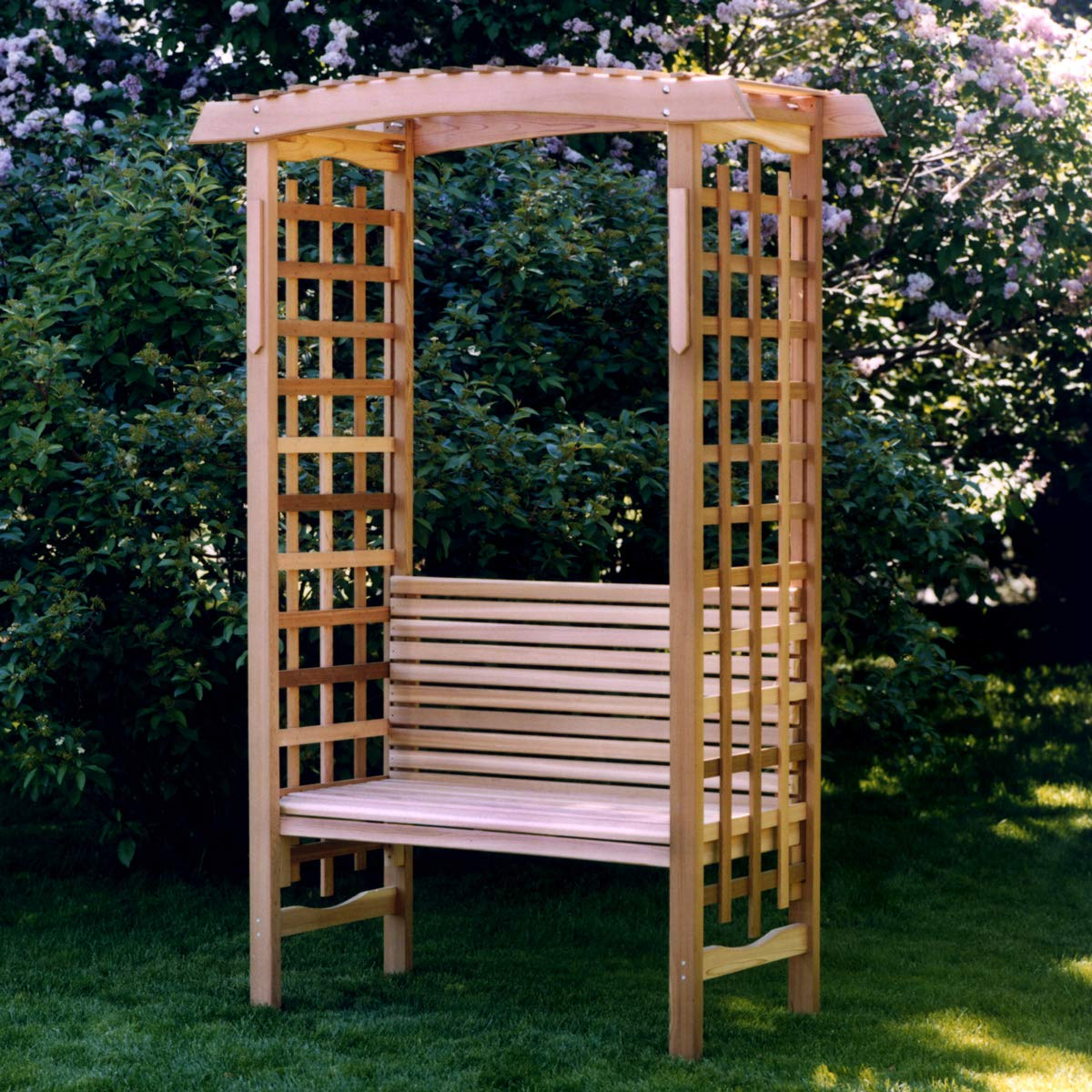 Marvelous All Things Cedar Ga87 B Garden Arbor With Bench Pdpeps Interior Chair Design Pdpepsorg