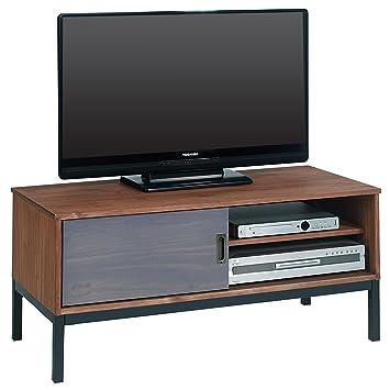 IDIMEX Meuble TV Selma Banc télé de 98 cm au Style Industriel Design  Vintage avec 1 fae9190e2bd2
