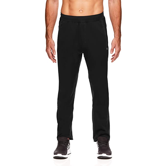 Gaiam Mens Anti Gravity Stretch Yoga Pants - Performance Workout & Running Sweatpants