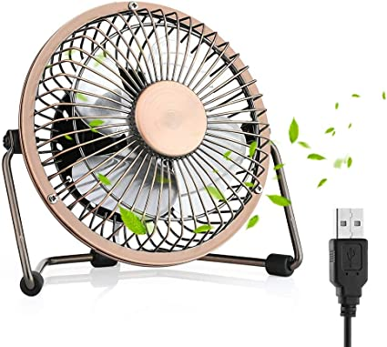 HUALANS Ventilador USB, Ventilador de Mesa de 4 Pulgadas fácil de ...