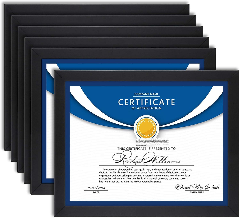 Icona Bay 8.5x11 Diploma Frames Black Sturdy Popular products Wood Com 6 Pack Las Vegas Mall