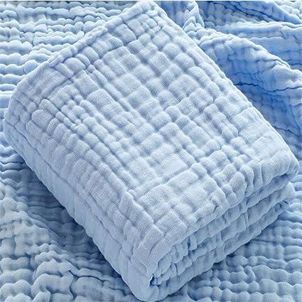FIFY Bebé recién Nacido Toalla de baño de algodón de los niños Gasa ...