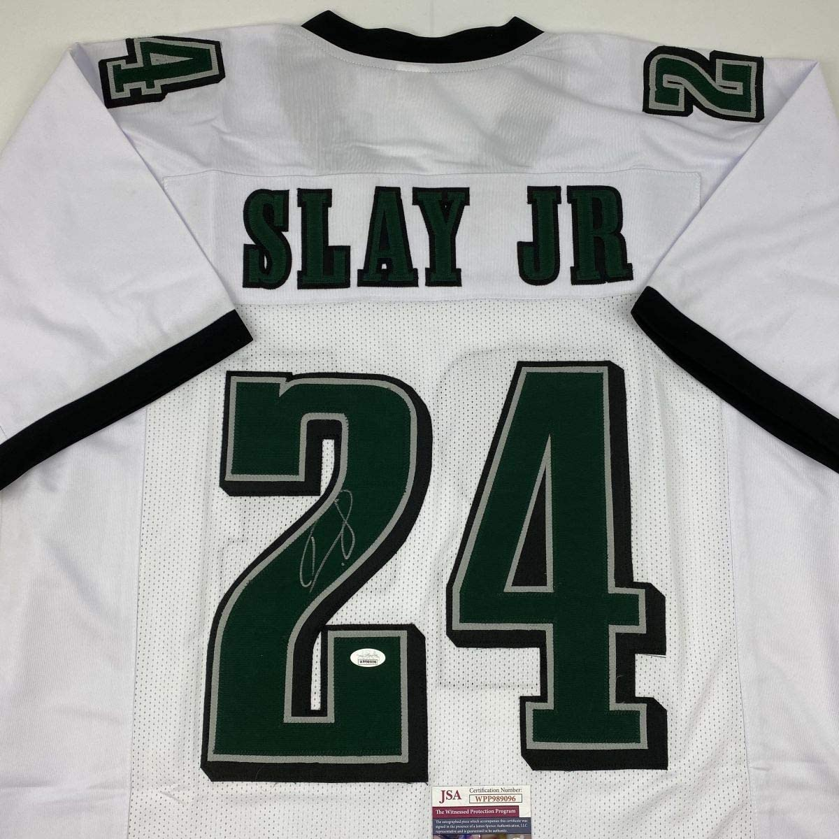 Autographed/Signed Darius Slay Jr. Philadelphia White Football Jersey JSA COA
