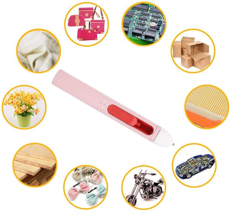 01 Mini Pistolet /à Colle thermofusible pour lartisanat dart de Bricolage Mini Stylo /à Colle Chaude color/é sans Fil