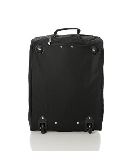 Juego de 2 Maletas aprobadas para Equipaje de Mano de la Cabina máxima de Ryanair 55x40x20cm, 42L (Negro)